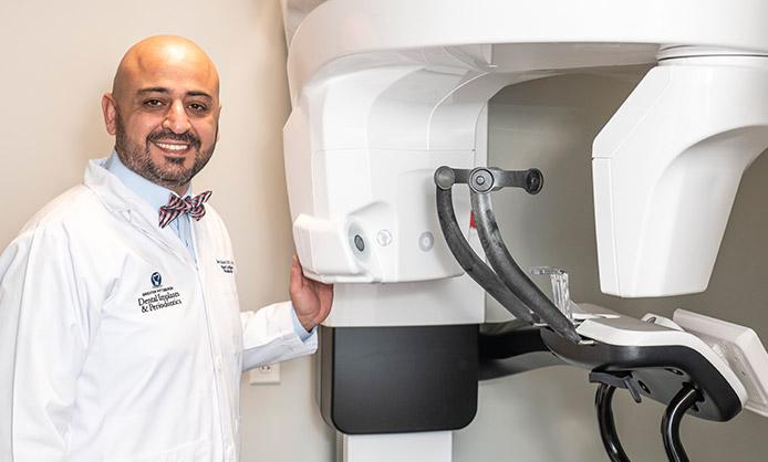 high-tech CT scanner